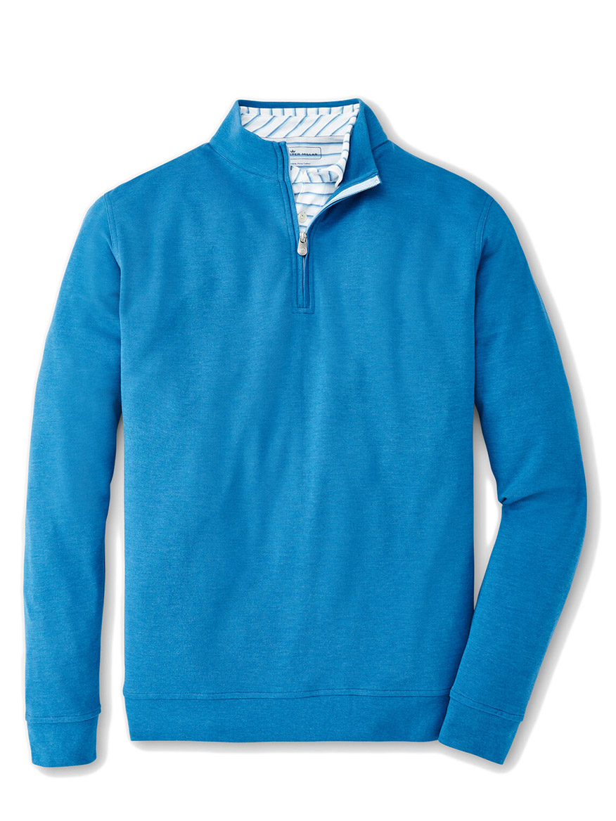 Buy Crown Comfort Interlock Quarter Zip Blue River Sweaters Larrimors.com