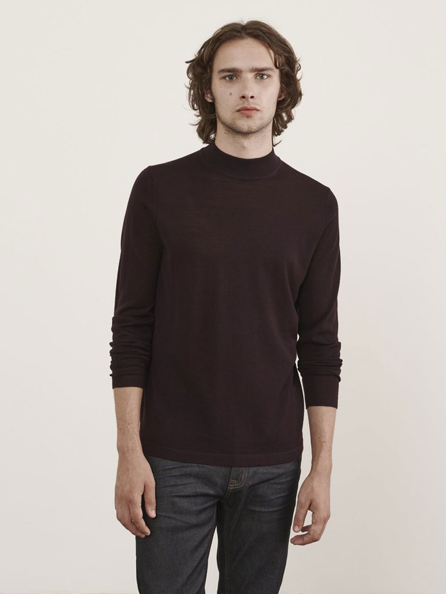 Buy Merino Sweater Bordeaux Sweaters Larrimors.com