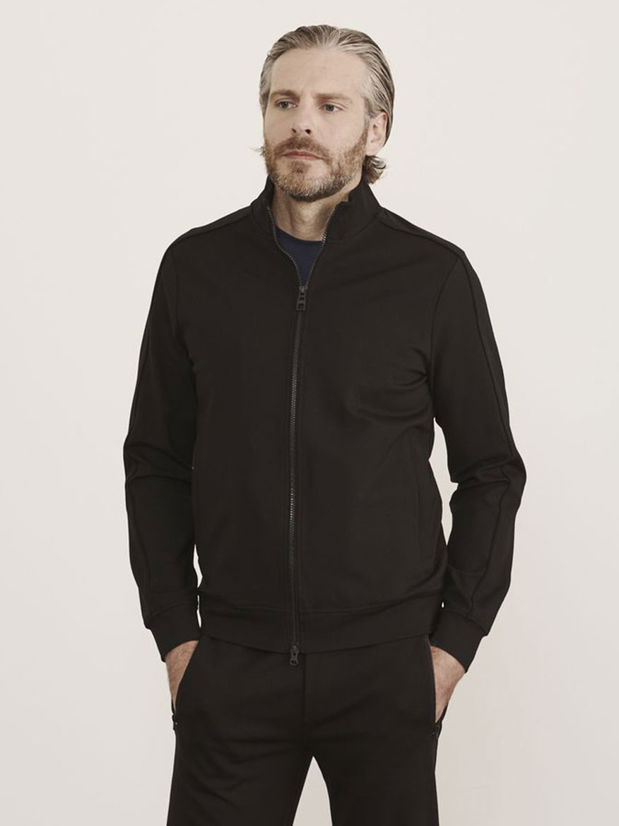 Buy Stretch Zip Jacket Black Jackets Larrimors.com