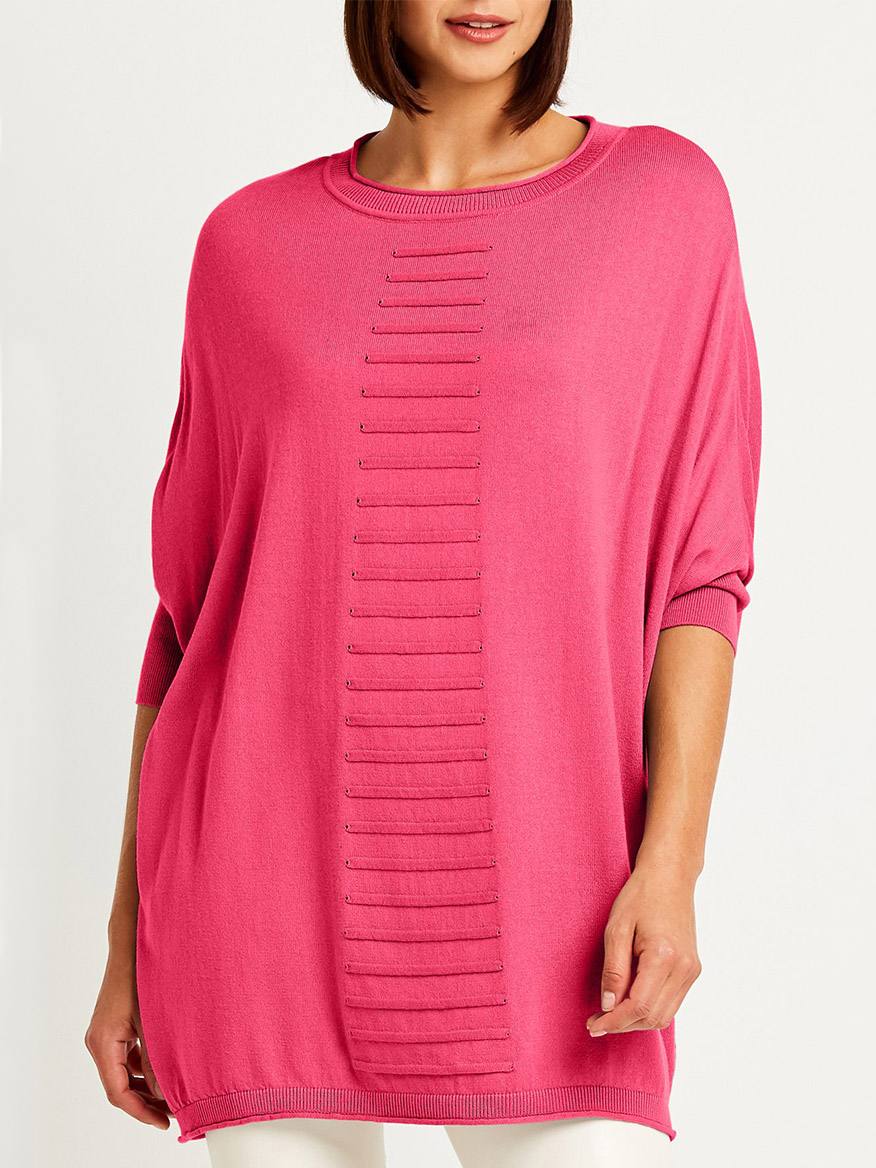 Buy Shoelace Crewneck Sweater Shocking Pink Sweaters Larrimors.com