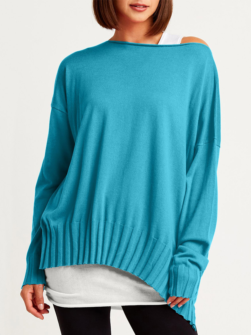 Buy Boatneck Rib Sweater Caribbean Sweaters Larrimors.com