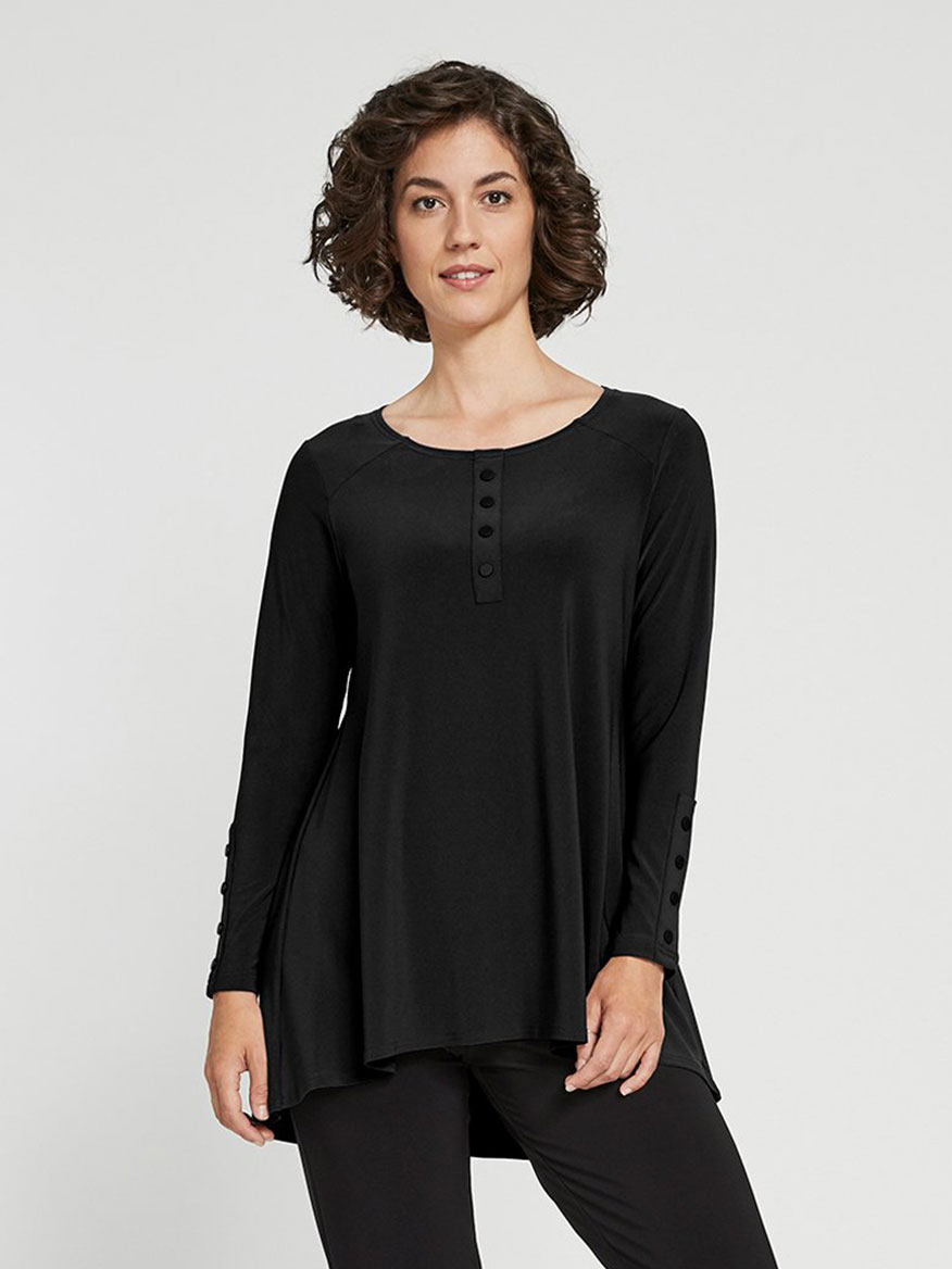 Buy Icon Henley Black Tops Larrimors.com