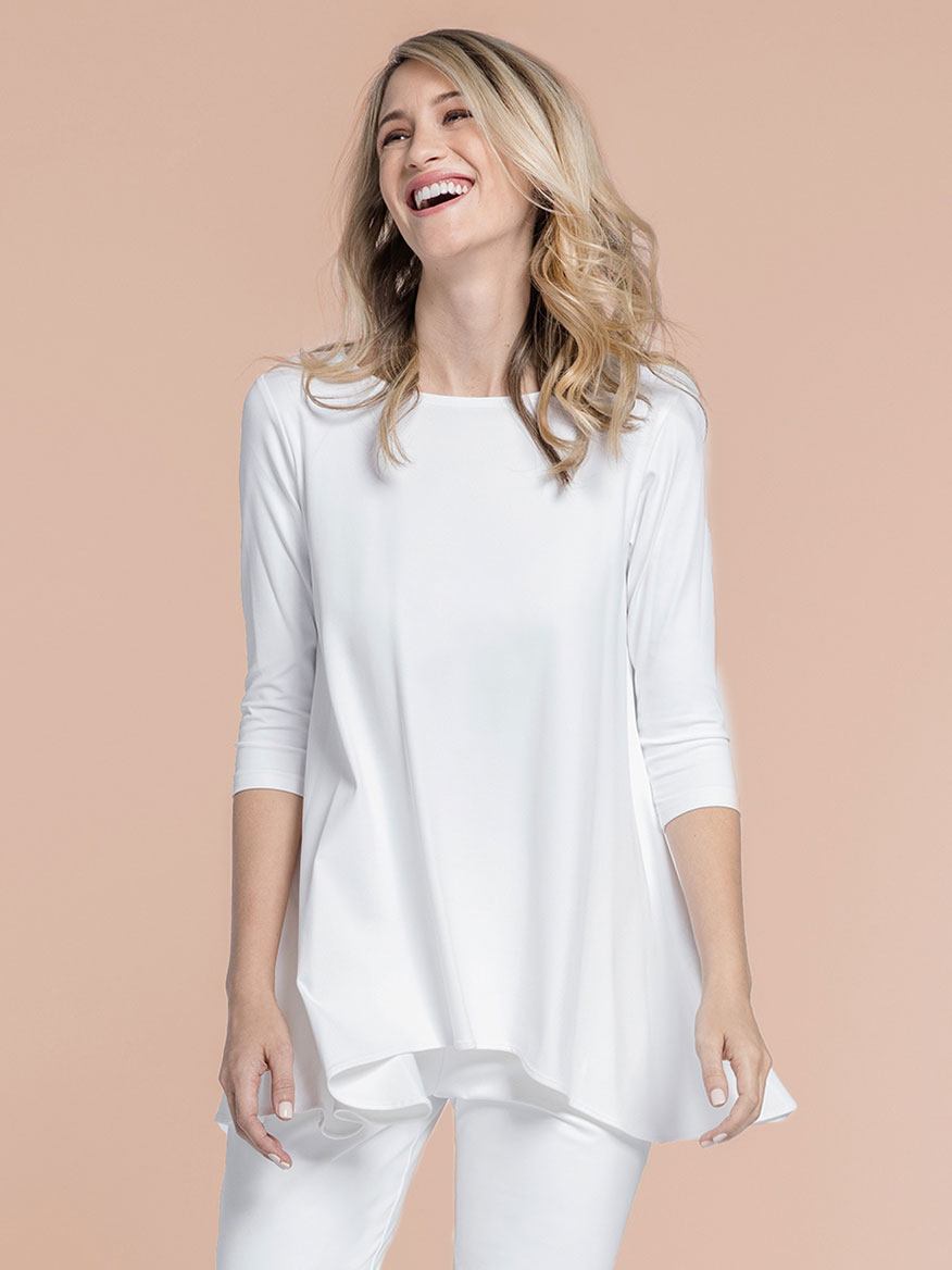 Sympli True T, 3/4 Sleeve in White