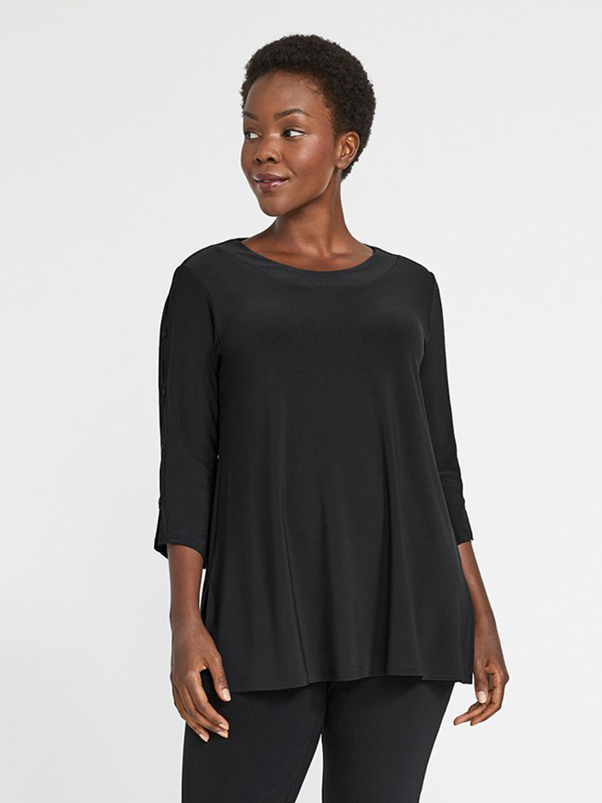 Buy Icon Tunic Black Tops Larrimors.com