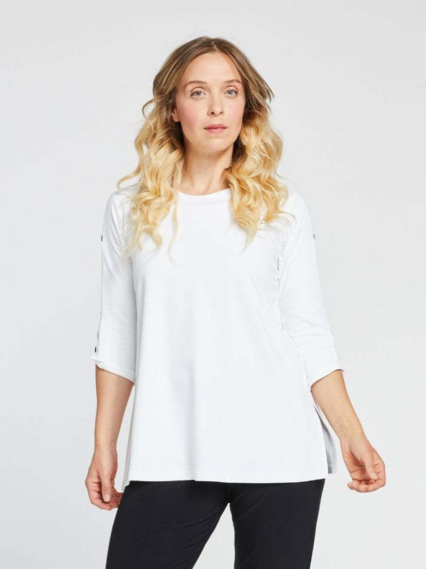 Buy Icon Tunic White Tops Larrimors.com