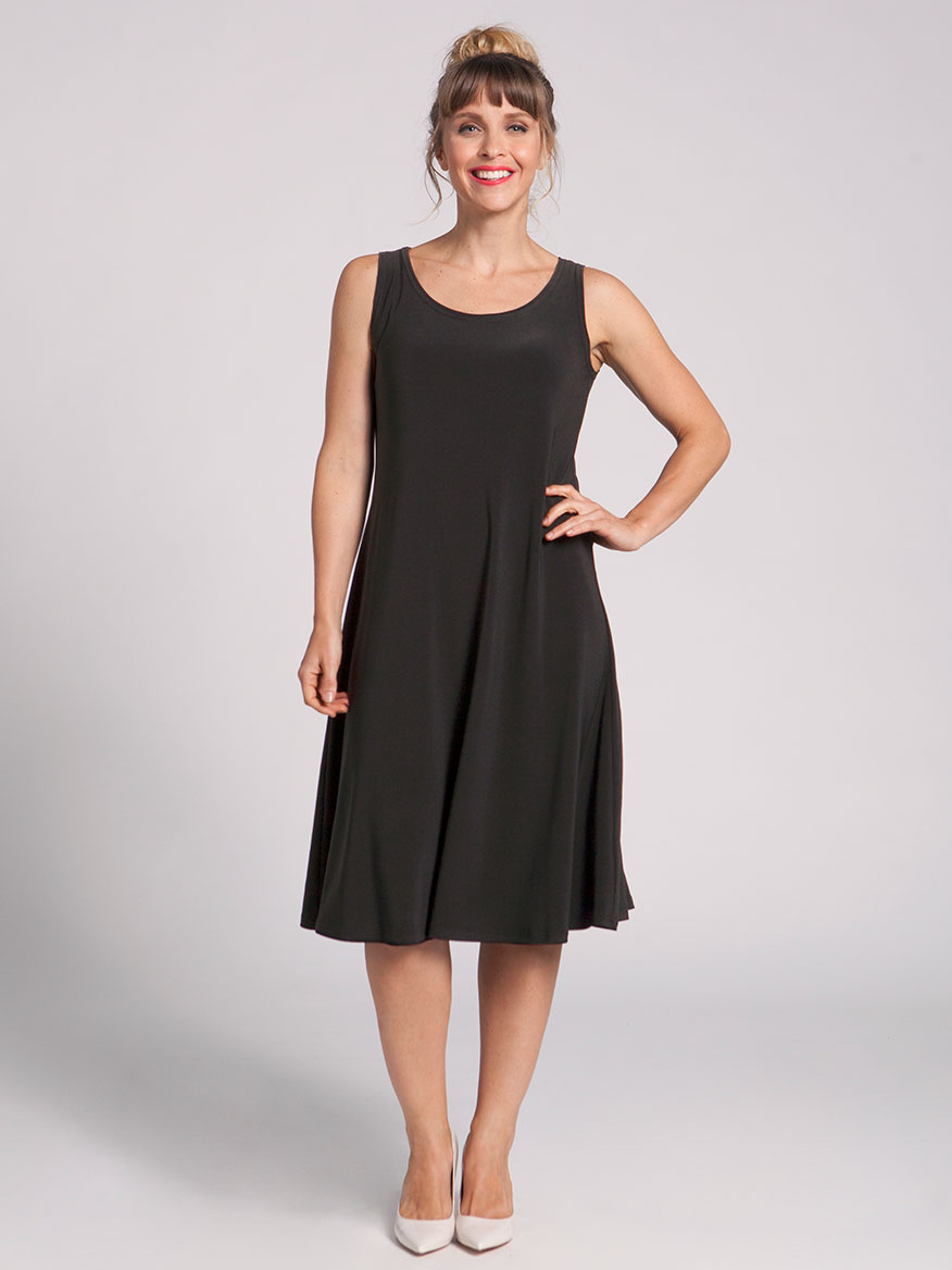 Sympli Tank Dress Short in Black