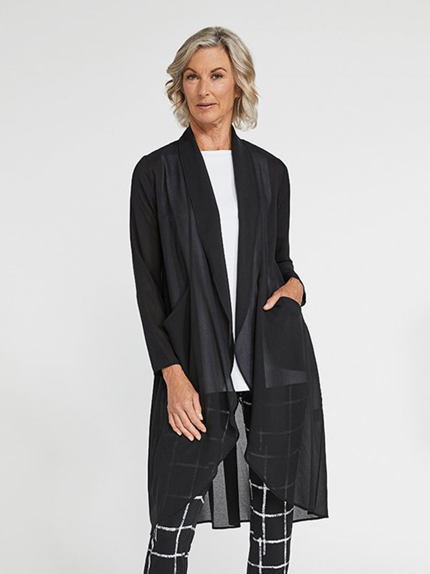 Buy Whisper Coat Black Tops Larrimors.com