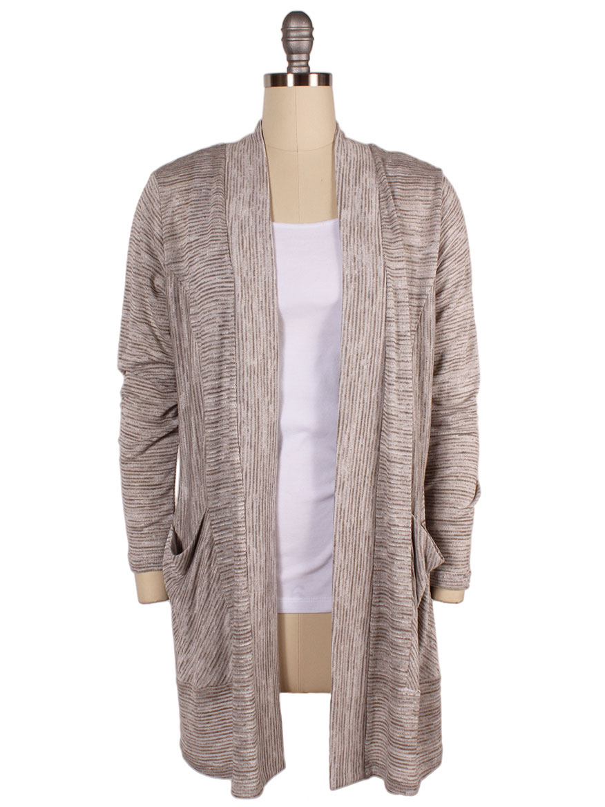 Sympli Icing on the Cake Cardi in Taupe