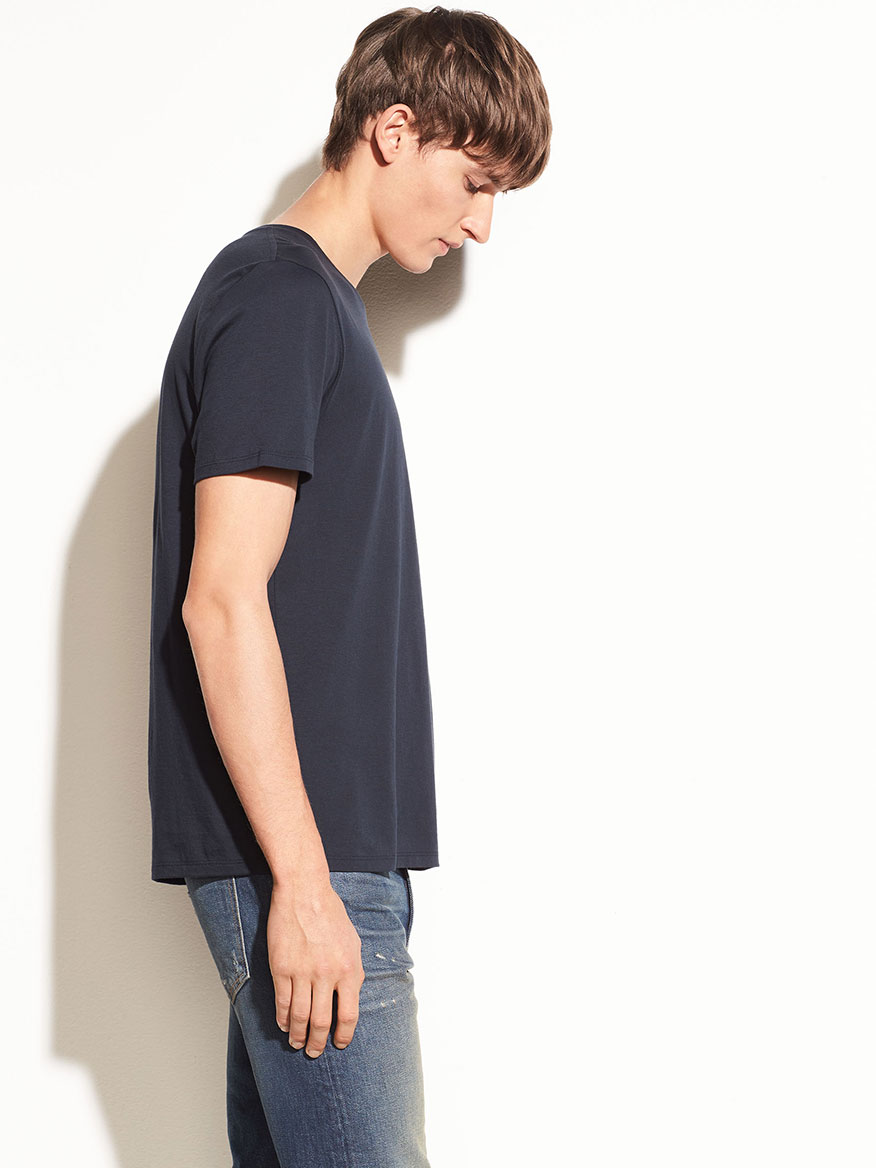 Vince Crew Neck T-Shirt in Coastal Blue