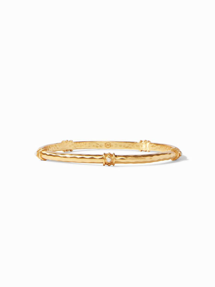 Julie Vos Savannah Stone Bangle in Pearl - Medium
