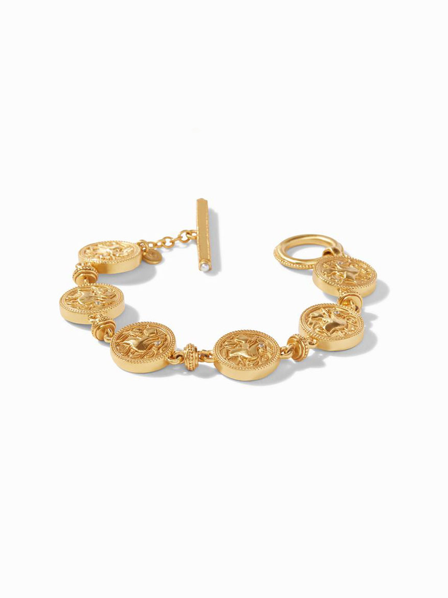 Julie Vos Coin Double Sided Bracelet in Mother of Pearl