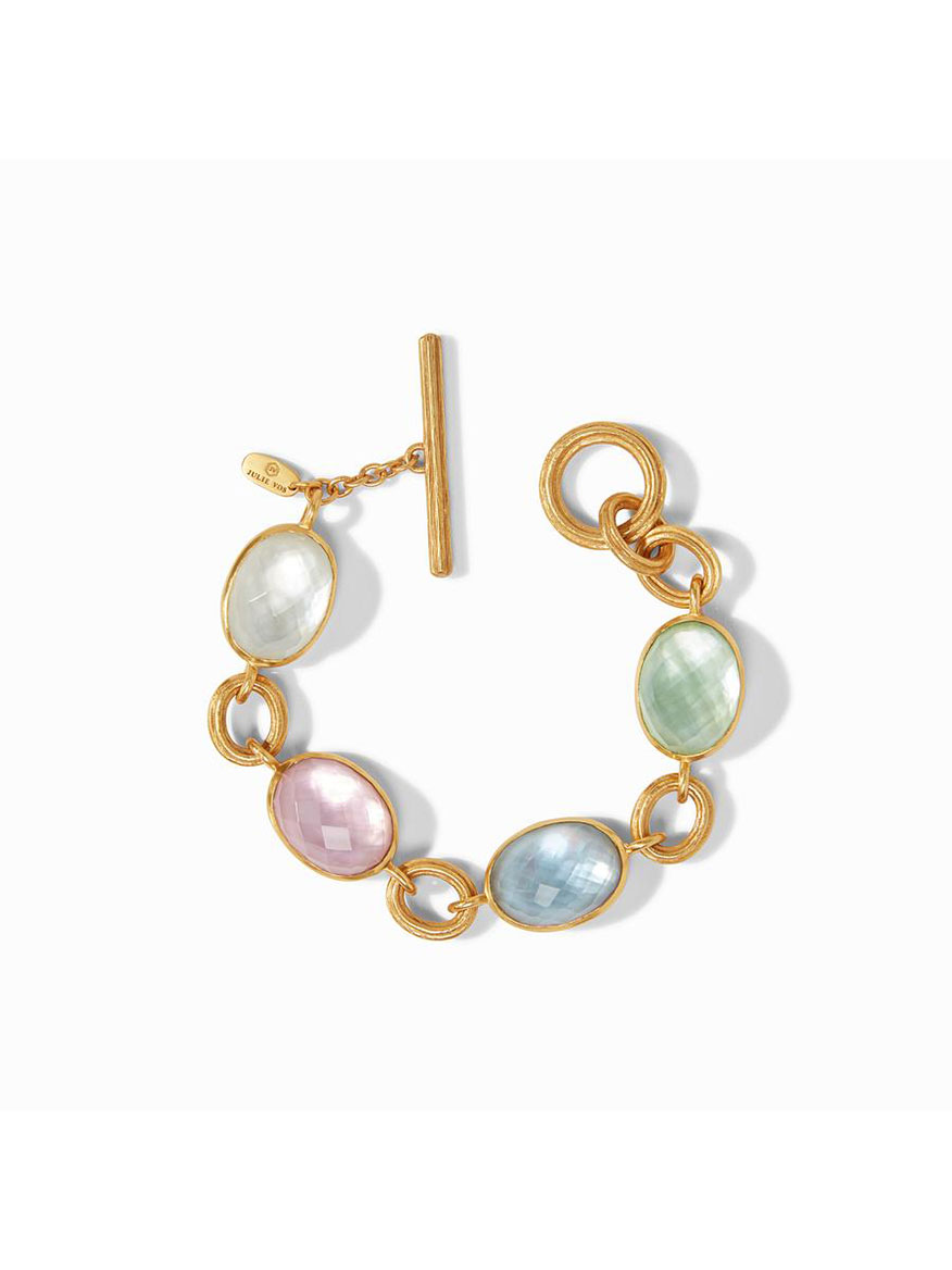Julie Vos Barcelona Bracelet in Multi Stone