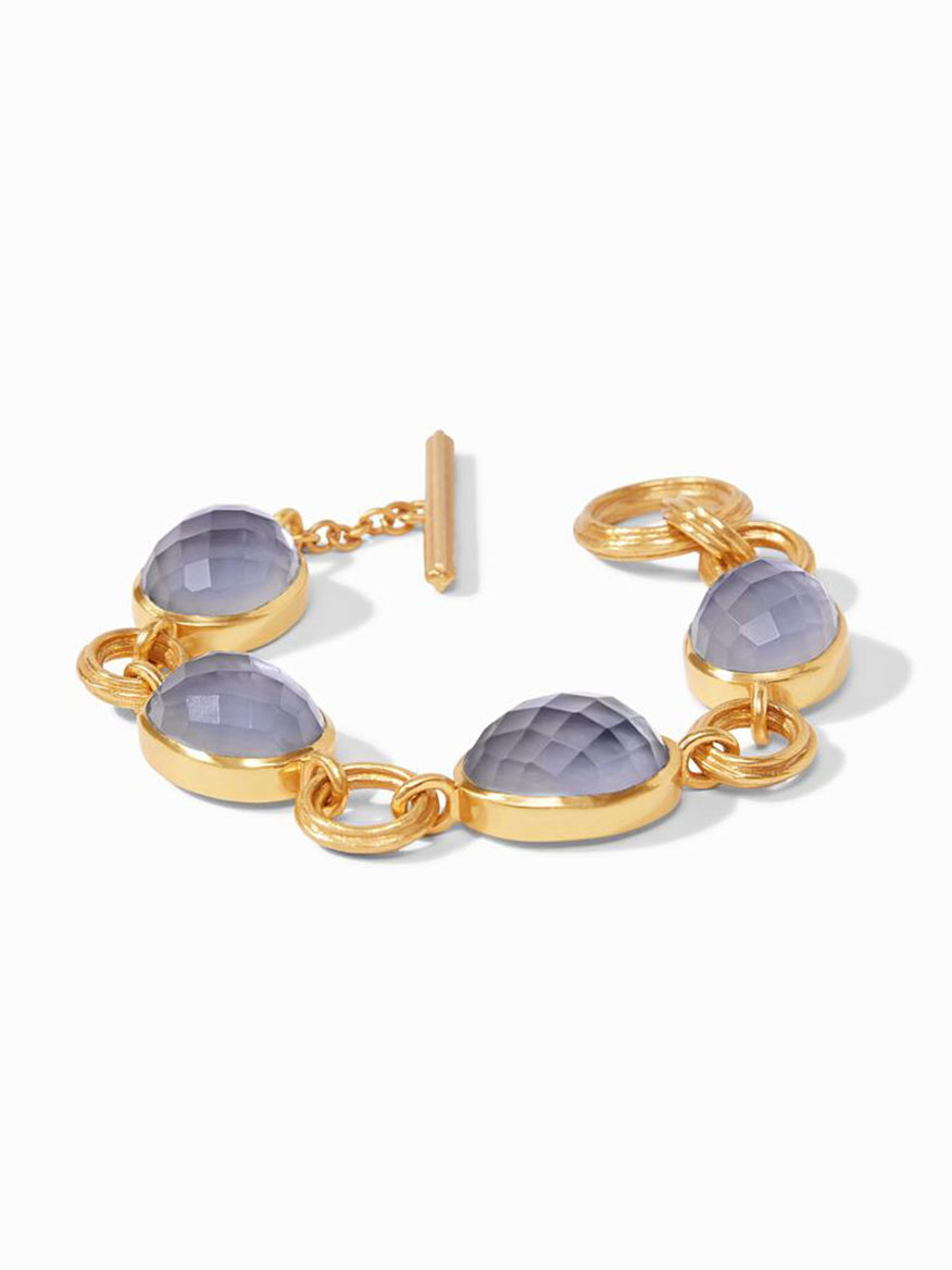 Julie Vos Barcelona Bracelet in Iridescent Slate Blue