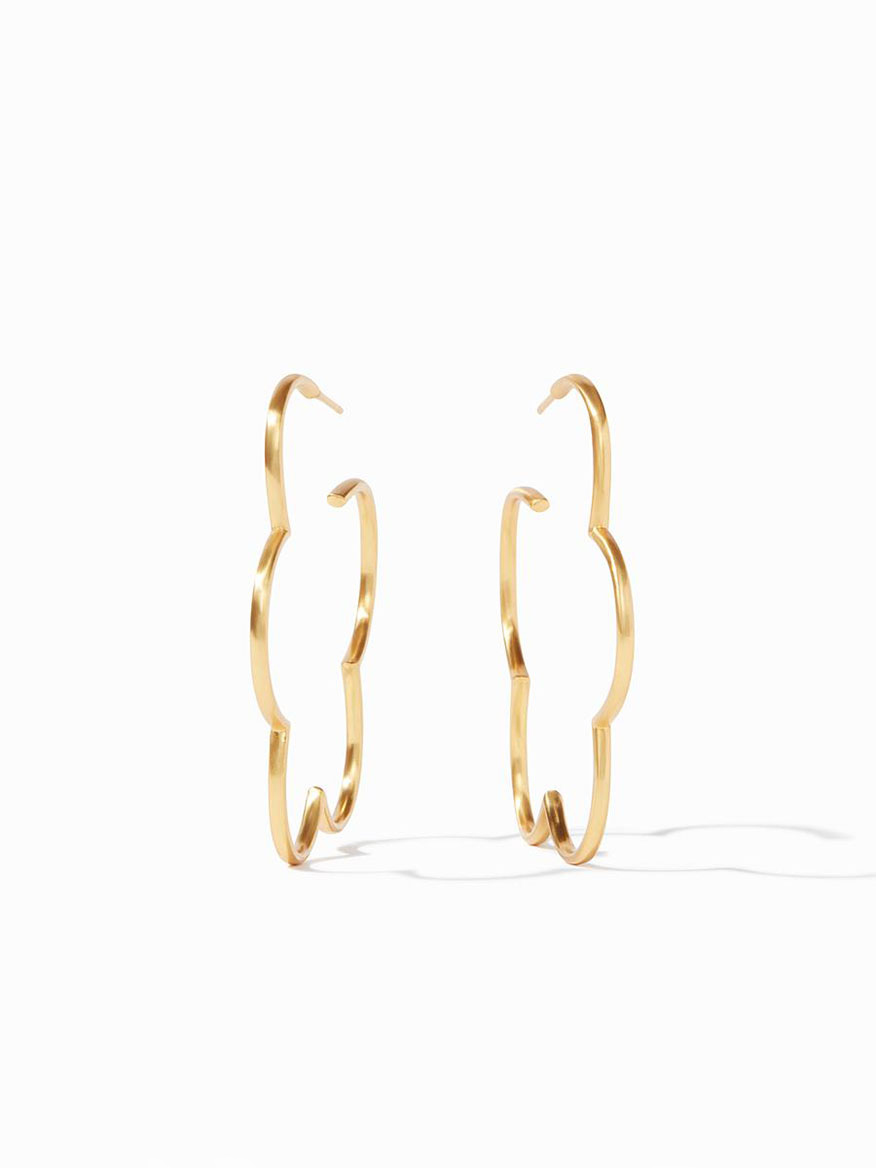 Buy Gardenia Hoop Earring Large Gold Jewelry Larrimors.com