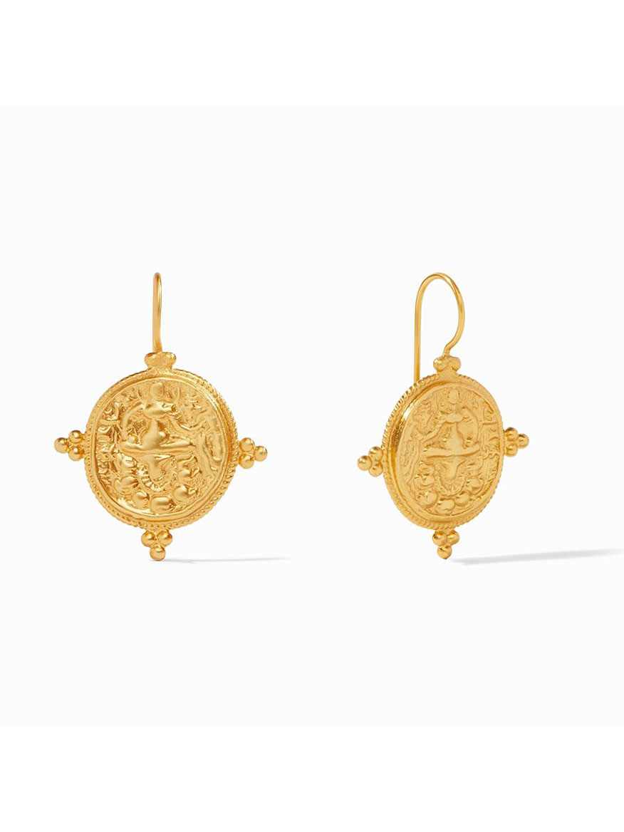 Buy Quatro Coin Earrings Gold Jewelry Larrimors.com
