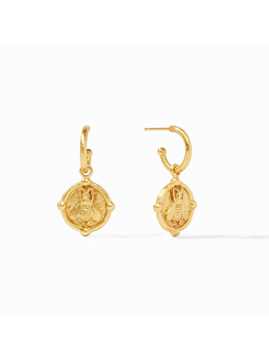 Buy Bee Hoop & Charm Earring Gold Jewelry Larrimors.com