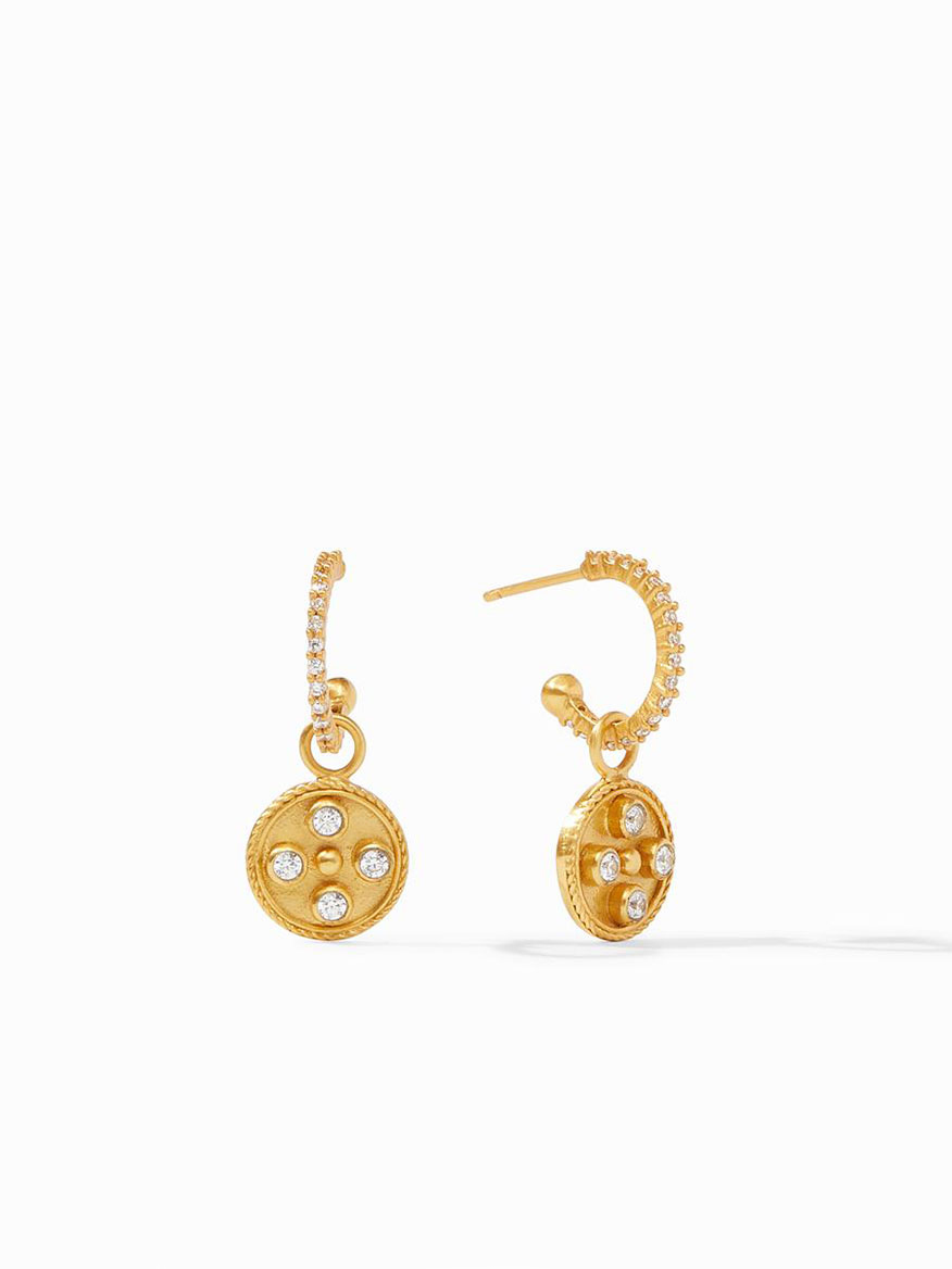 Buy Paris Hoop & Charm Earring Gold Jewelry Larrimors.com