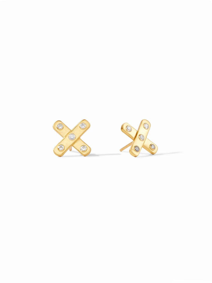 Buy Paris X Stud Earring Cubic Zirconia Jewelry Larrimors.com