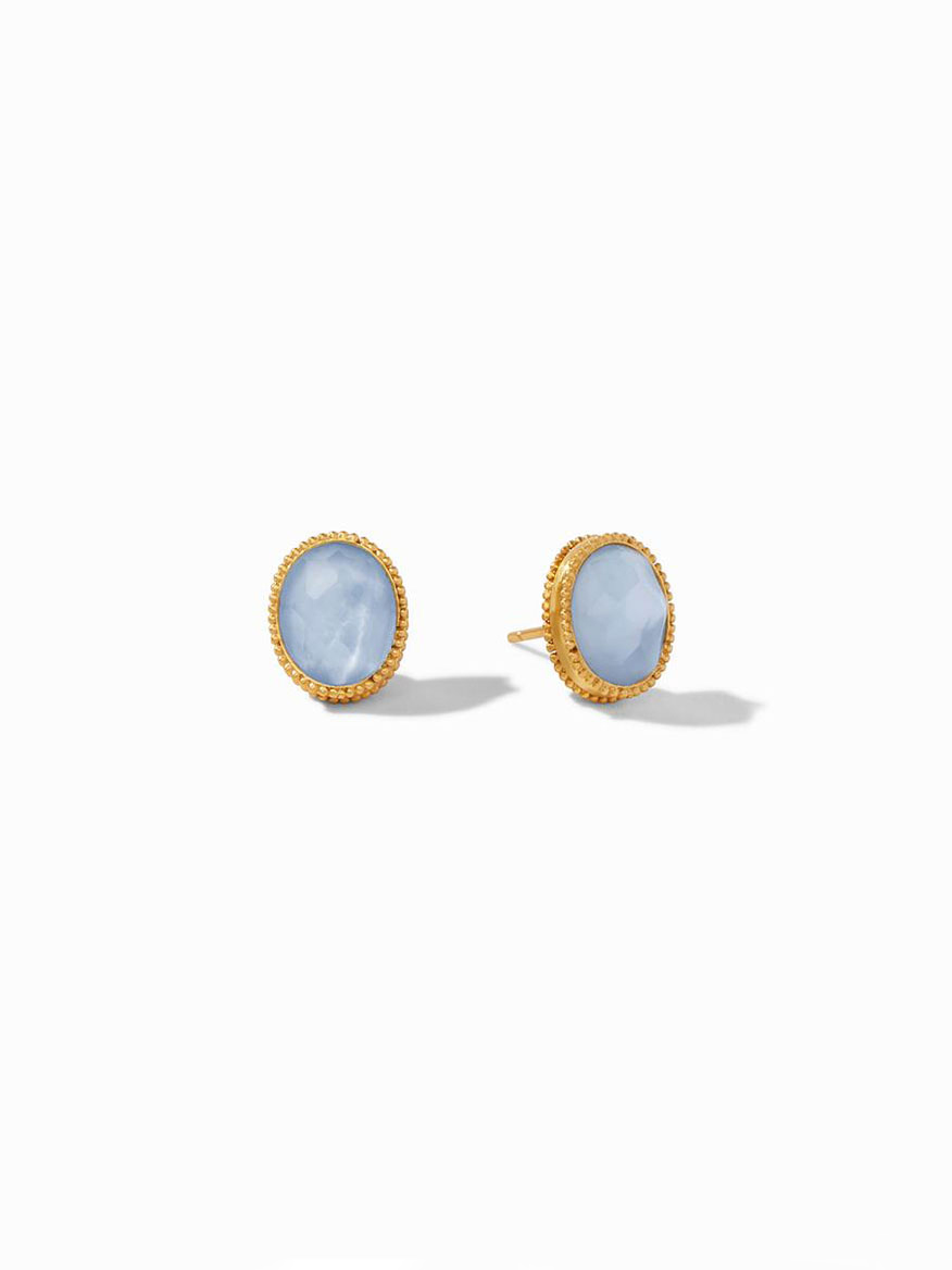 Buy Verona Stud Earring Blue Jewelry Larrimors.com