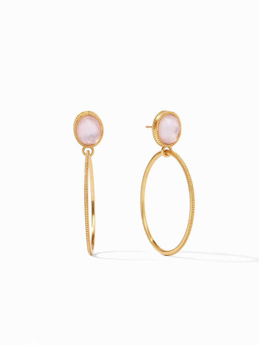 Julie Vos Verona Statement Earring in Iridescent Rose
