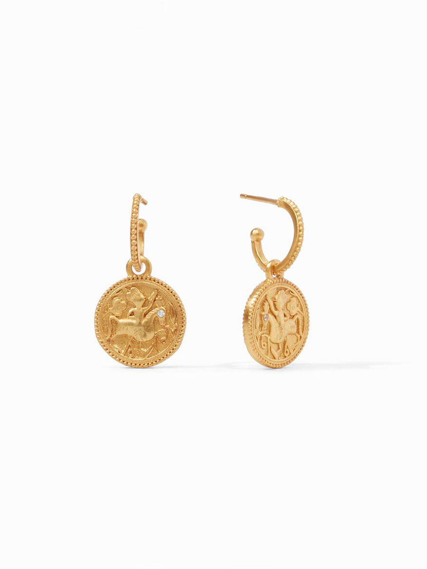 Buy Coin Hoop & Charm Earring Gold Jewelry Larrimors.com