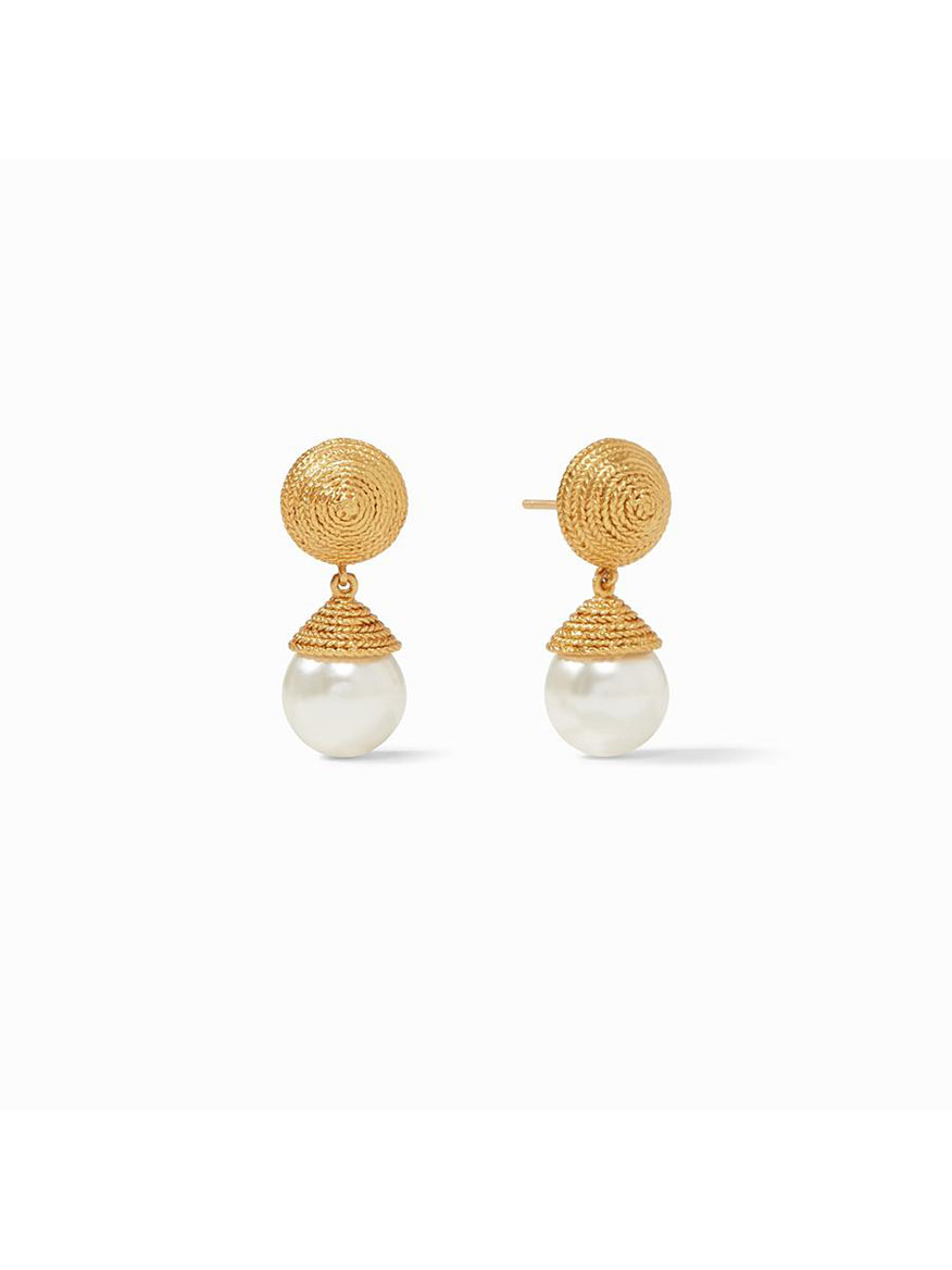 Buy Calypso Pearl Earrings Gold Jewelry Larrimors.com