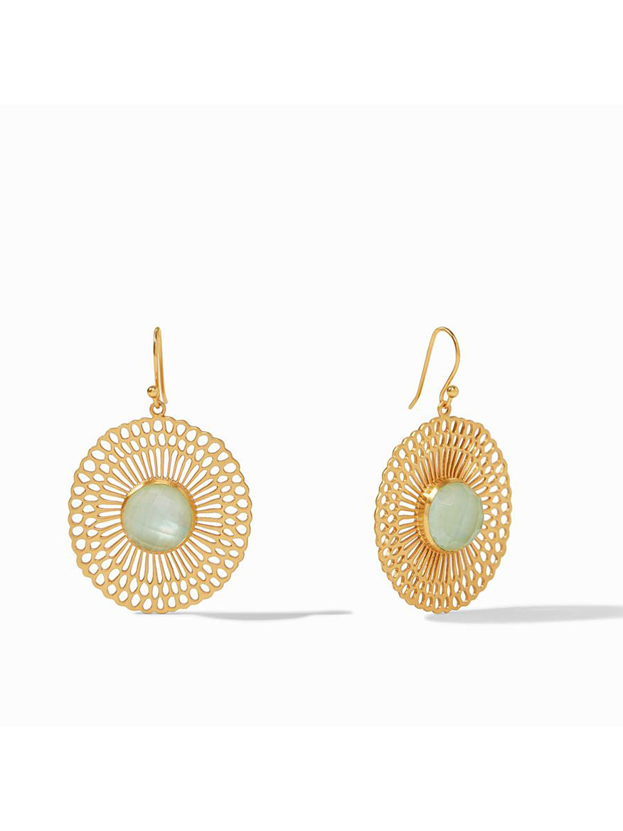 Julie Vos Soleil Earring in Iridescent Seaglass Green