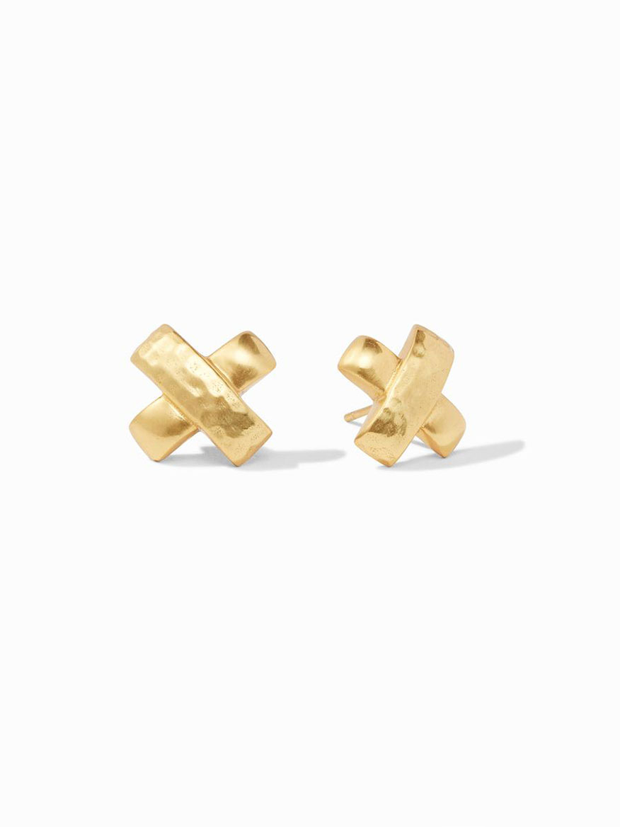 Buy Catalina X Stud Earring Gold Jewelry Larrimors.com