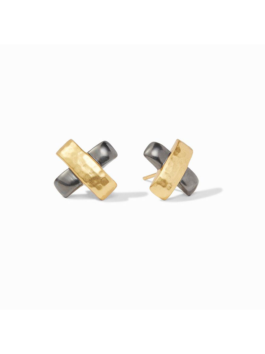 Julie Vos Catalina X Stud Earring in Mixed Metal