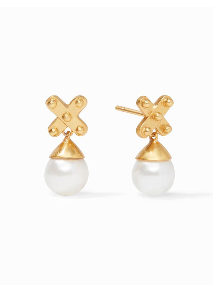 Buy Soho Pearl Drop Earring Gold Jewelry Larrimors.com