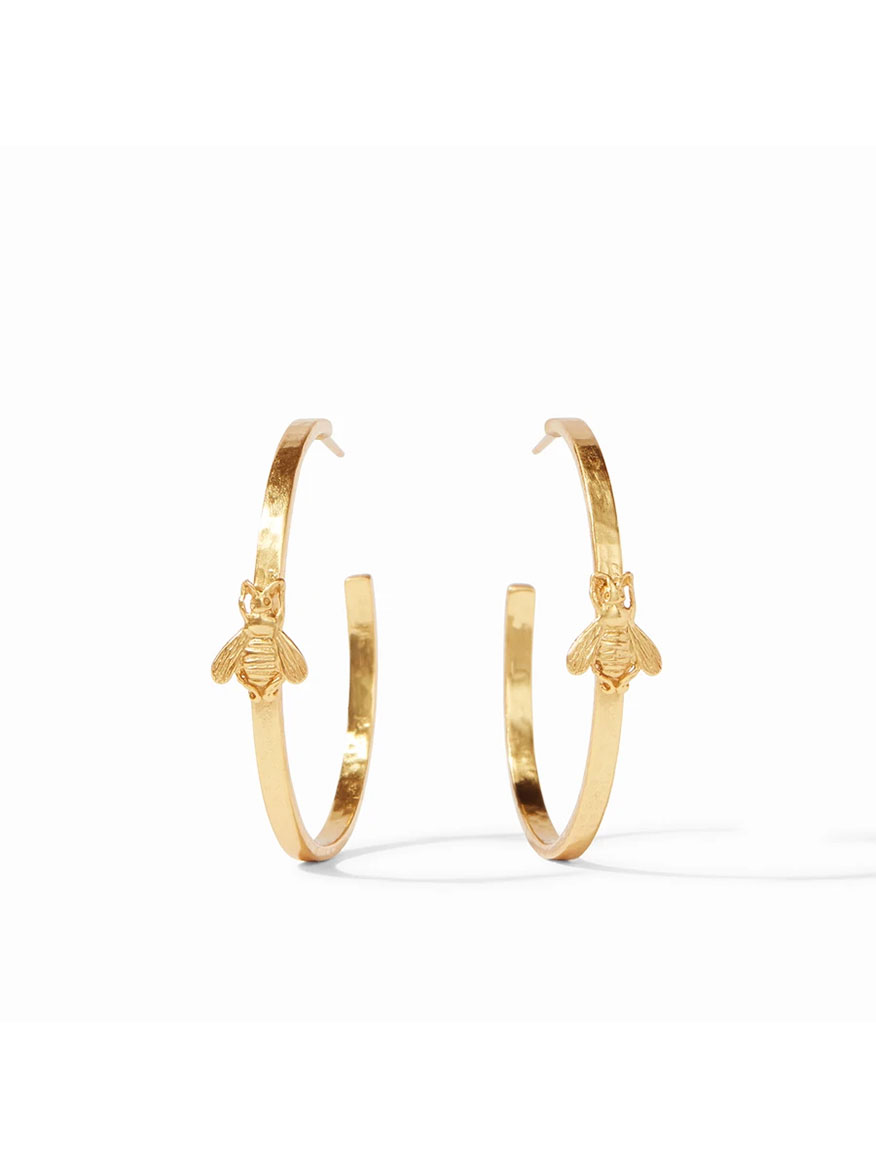 Buy Bee Hoop Earring Large Gold Jewelry Larrimors.com