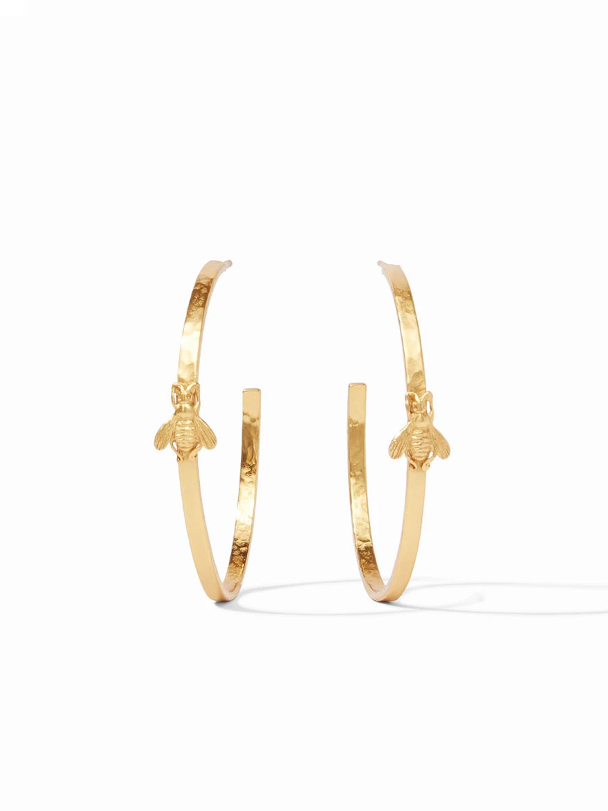 Buy Bee Hoop Earring XL Gold Jewelry Larrimors.com