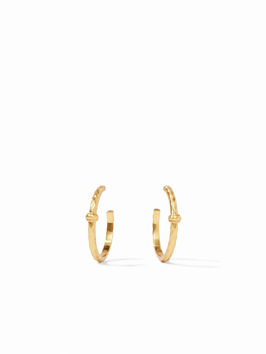 Buy Savannah Hoop Earring Medium Gold Jewelry Larrimors.com