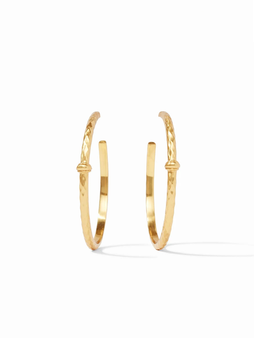 Buy Savannah Hoop Earring XL Gold Jewelry Larrimors.com