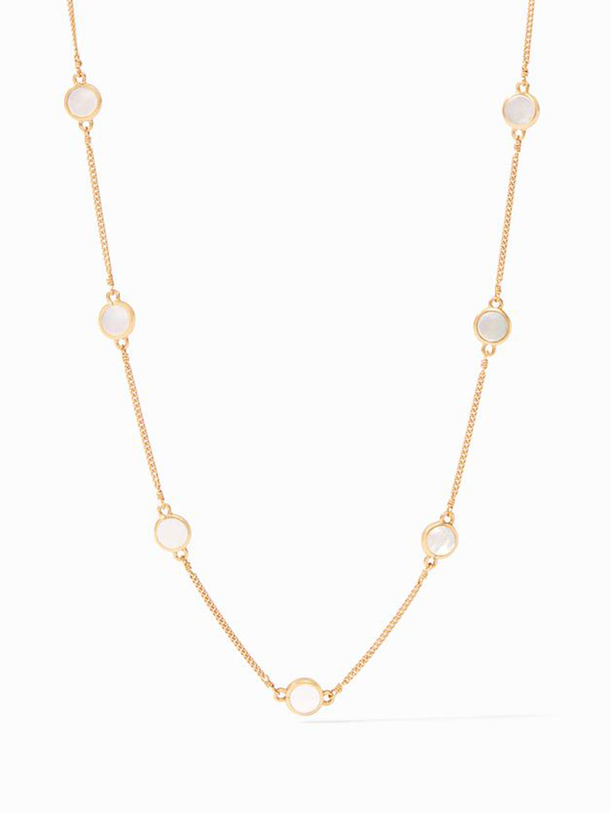 Buy Valencia Delicate Station Necklace Pearl Jewelry Larrimors.com