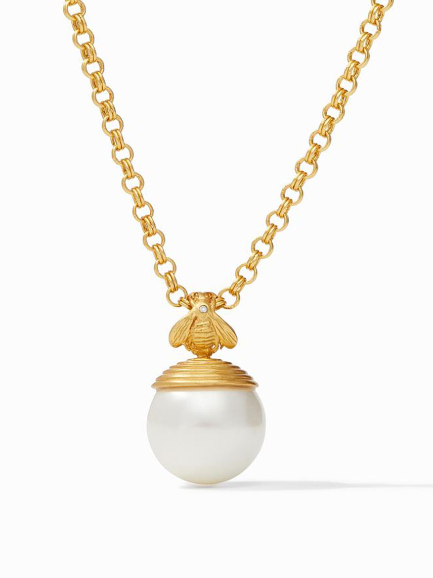Buy Bee Pearl Pendant Gold Jewelry Larrimors.com